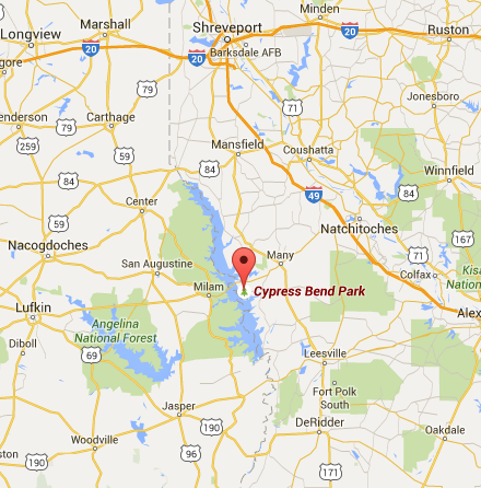 4th annual battle on the border fishing tournament for Toledo bend fishing map