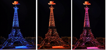 Hargis Eiffel Tower Lighting