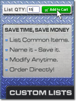 Build and Use Custom Lists of Items on ElliottElectric.com