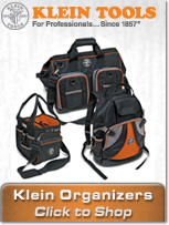 Tradesman Pro Organizers from Klein Tools provide the ultimate mobile storage for electricians!