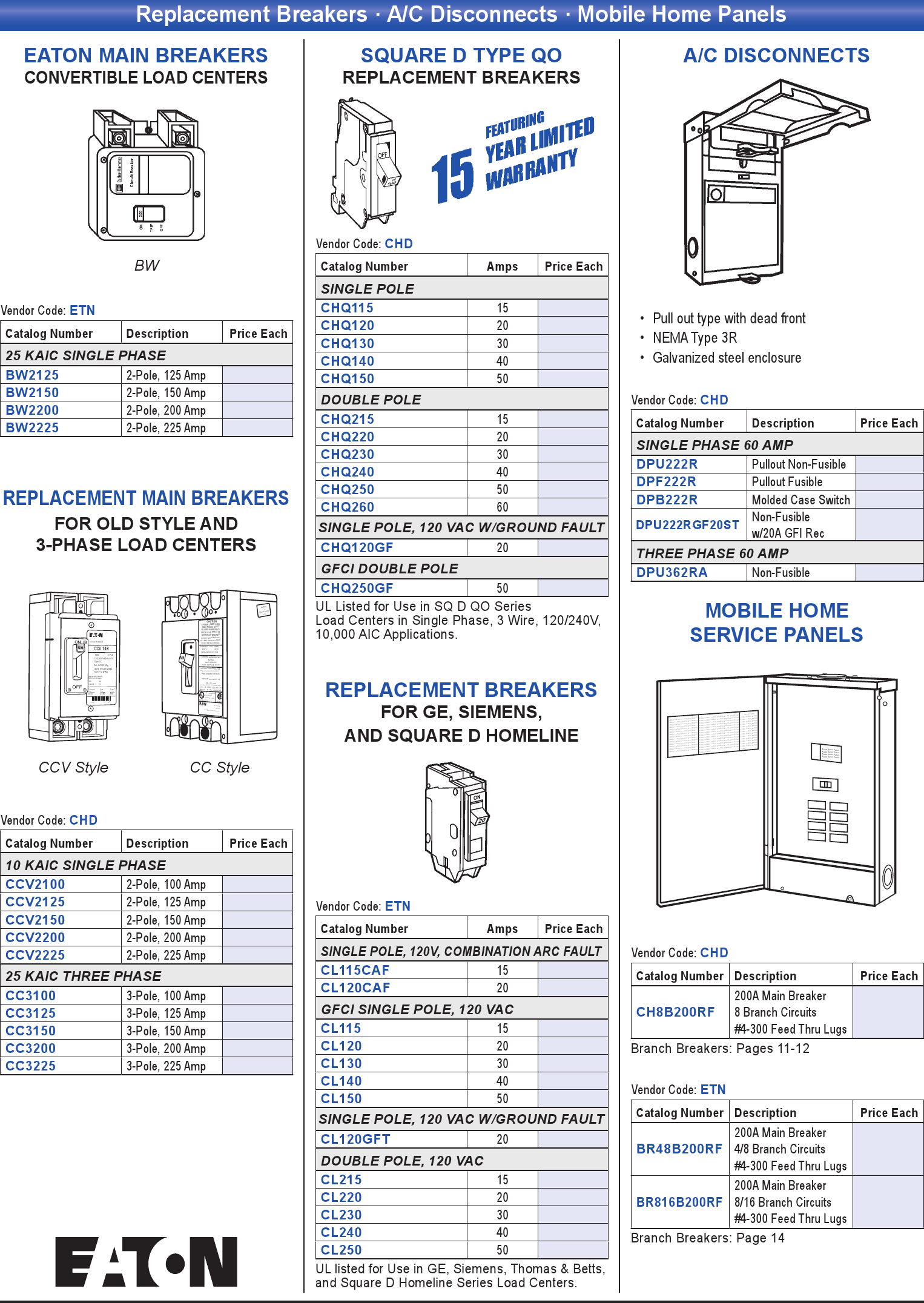 Replacement Breakers · A/C Disconnects · Mobile Home Panels - Print on air mobile, ceramic mobile, water mobile, ice mobile, element mobile,