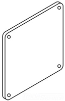 F44LP - F44LP Jic Lay-In Wireway End - Hoffman Enclosures, Inc.