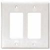 2052W - Wallplate 2G Decorator Thermoset Mid WH - Eaton Wiring Devices