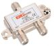 323018BU - 2-Way Coax Splitter W/ GRND - Waldom Electronics CO.