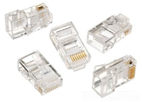 85346 - RJ45 8P8C CAT5 RS/FS Modular Plug 25/PK - Ideal