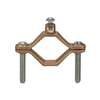 "G2S - 1-1/4"" - 2"" Bronze Ground Clamp, # 2 - Nsi Industries"