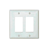 PJ262W - Wallplate 2G Decorator Poly Mid WH - Eaton Wiring Devices