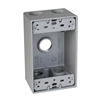 "SB550S - 1G WP Box - Five 1/2"" Holes - 17 Cu In - Hubbell--Raco"