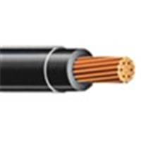 THHN4BK500 - THHN 4 STR Black 500 - Copper