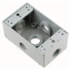 "WPB26 - 1G WP Gray Box - Five 1/2"" Holes - 17 Cu In - Pass & Seymour/Legrand"