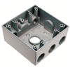 "WPB342 - 2G WP Gray Box - Four 3/4"" Holes - 30 Cu In - Pass & Seymour/Legrand"