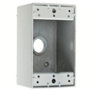 "WPB35 - 1G WP Gray Box - Five 3/4"" Holes - 17 Cu In - Pass & Seymour/Legrand"