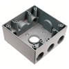 "WPB352 - 2G WP Gray Box - Five 3/4"" Holes - 30 Cu In - Pass & Seymour/Legrand"