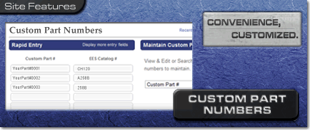 Custom Part Numbers: Use Your Own at ElliottElectric.com
