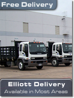 Elliott Electric Supply offers free deliveries in most serviced areas (Texas, Louisiana, Arkansas, Oklahoma, NM, Georgia).