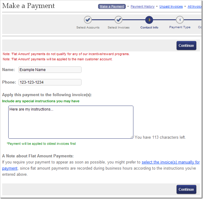How to pay online with Flat Amounts