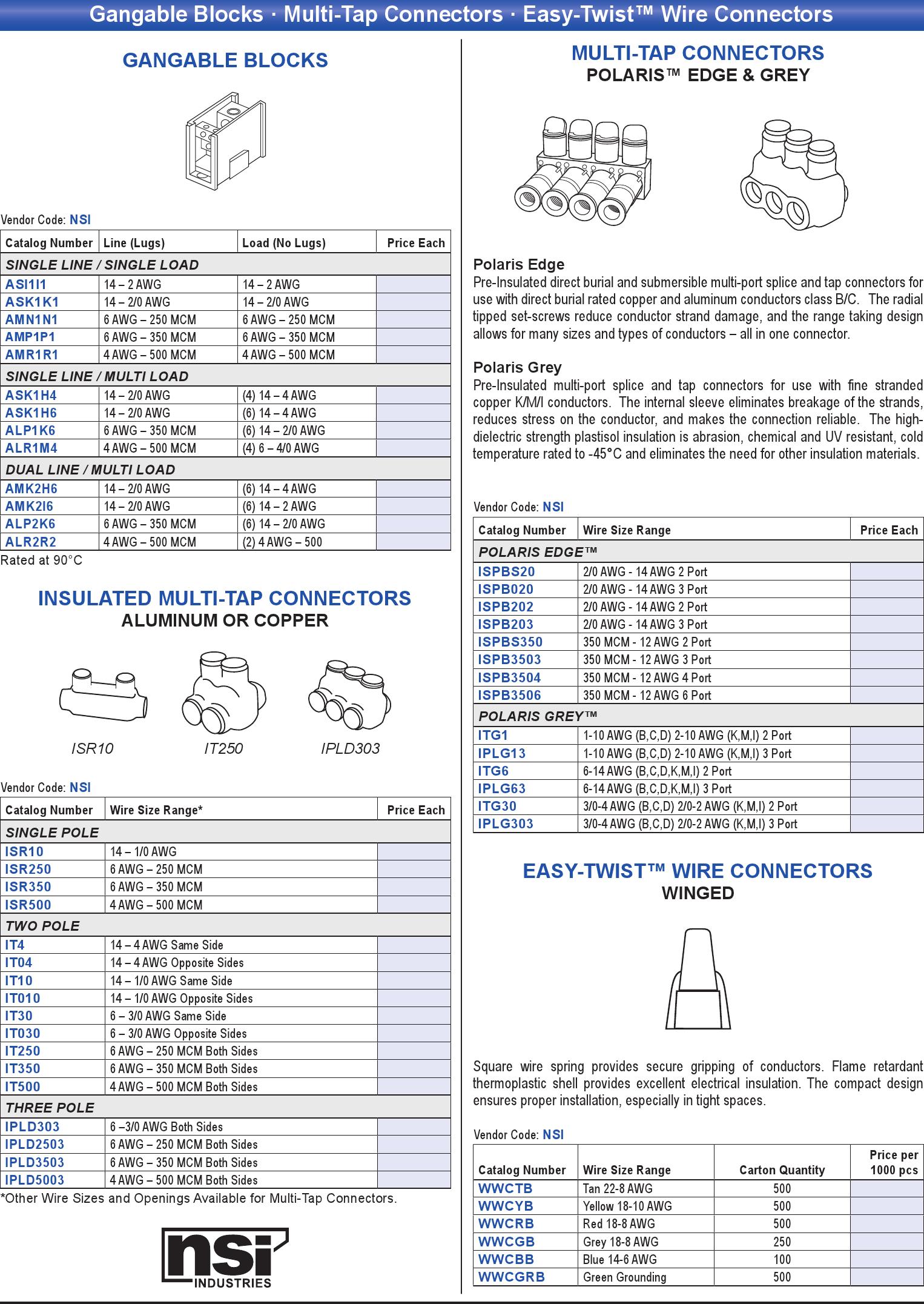 Gangable Blocks · Multi-Tap Connectors · Easy-Twist™ Wire Connectors ...