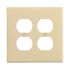 PJ82V - 2G Mid Dup Wallplate - Cooper Wiring Devices