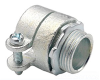 "407DC2 - 1/2"" Flexible Straight Diecast Squeeze Connector - Bridgeport Fittings"