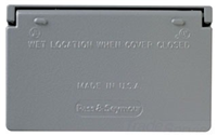 CA26GH - 1G WP Gfci Gray Horizontal Cover - Pass & Seymour/Legrand