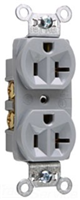 CR20GRY - 20A Spec Duupl Rec B&S Wired - Pass & Seymour/Legrand
