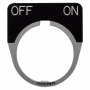 "10250TM42 - Legend Plate-""Off/On"" Standard 1/2 Round Black - Eaton Corp"