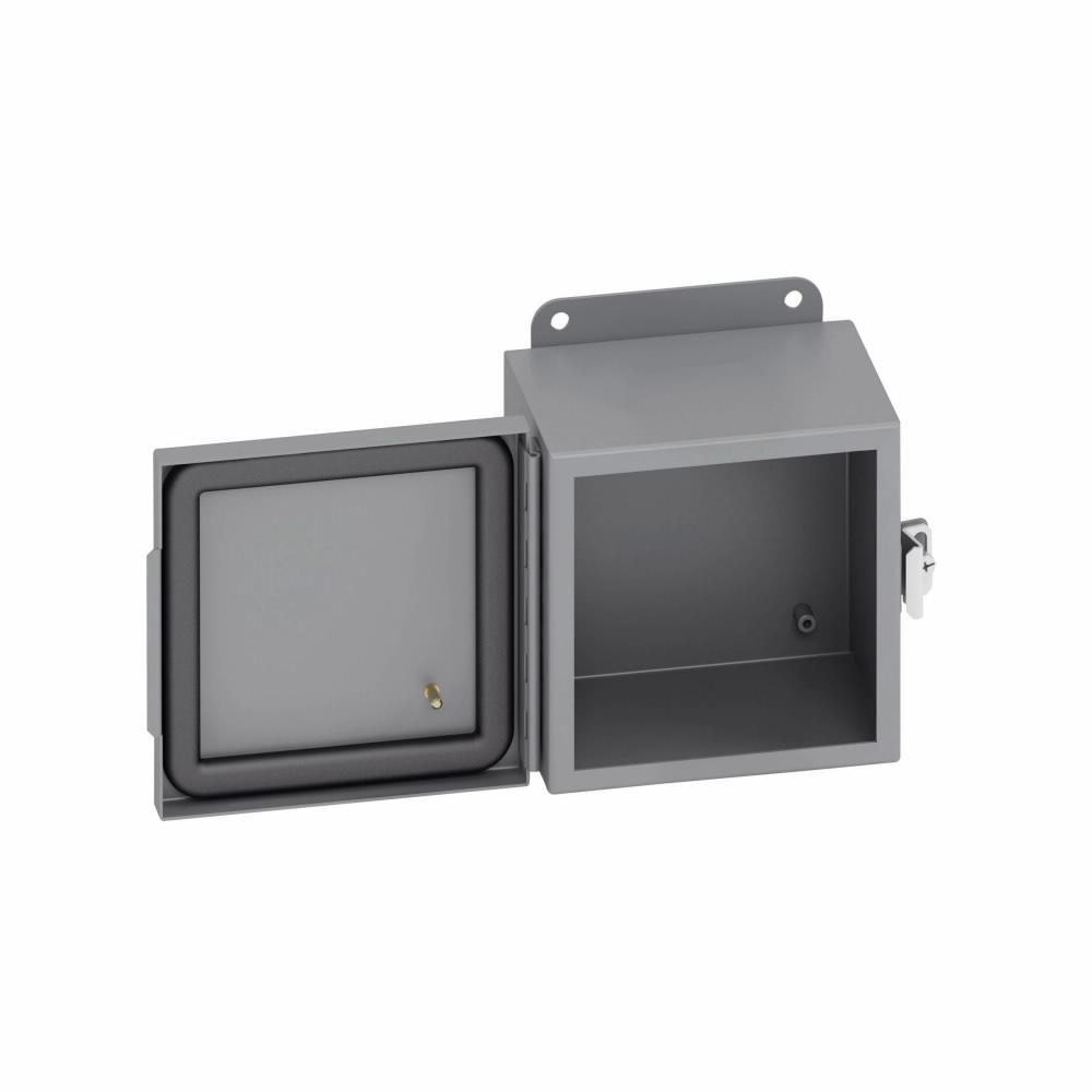 "12/""x12/""x6/"" Electrical Enclosure Hinged W//Back Plate JIC"