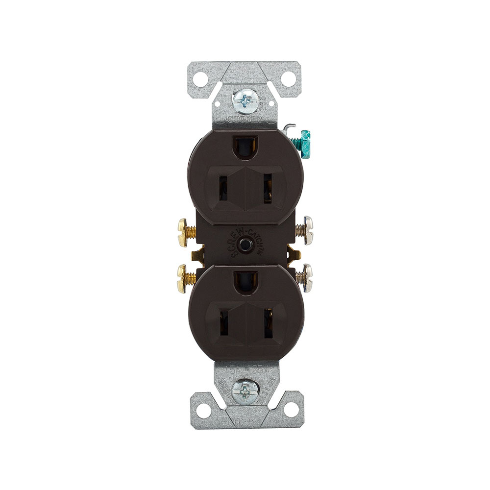270B Cooper Wiring Devices Nema 5-15R Duplex Receptacle 15A 125V BR