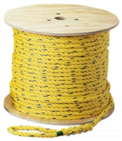 "31839 - Pro-Pull Polypropylene Rope, 1/4"", X 250' - Ideal"