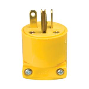 4509B0X - Plug 20A 250V 2P3W Vinyl STR Yl