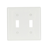 5139WB0X - Wallplate 2G Toggle Nylon STD WH - Eaton Wiring Devices