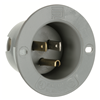 5278SS - 15A 125V Male Flanged Outlet 5-15P - Pass & Seymour/Legrand