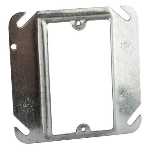"1-1//4/"" Raised 2-Device T /& B 52 C 21 4/"" Steel Square Box Cover"