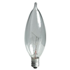 60CAC - 60W 120V Bent Tip Cand Base Clear Incand Lamp - Ge By Current Lamps