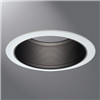 "6100BB - 6"" BLK Metal Baff Taprd W/2WHT Rings - Eaton Lighting"