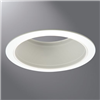 "6101WB - 6"" WHT Metal Baf STRGHT W/2 White Rings - Eaton Lighting"
