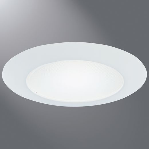 "Cooper Lighting Halo 70P Recessed 6/"" Glass Albalite Trim New White"