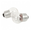 712S - 7.5W 130V S11 Globe Clear Indicator Incand Lamp - Ge By Current Lamps
