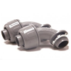"8418 - 1/2"" N/M LT 90D Conn Gy - Superflex LTD."
