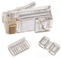 85366 - Cat 6 Modular Plug, RJ45, 25PC - Ideal