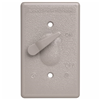 CA1GL - 1G WP Switch Gray Cover W/ Actuating Lever - Pass & Seymour/Legrand