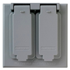 CA82G - 2G WP 2 Duplex Receptacles Gray Cover - Pass & Seymour/Legrand