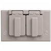 CA8GH - 1G WP Duplex Receptacle Gray Horizontal Cover - Pass & Seymour/Legrand
