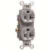 CR20GRY - 20A Spec Dupl Rec B&S Wired - Pass & Seymour/Legrand