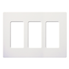 CW3WH - 3G Designer Wallplate WH - Lutron