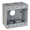 "DB5100S - 2G (5) 1""H Gry WP Box - Hubbell--Raco"