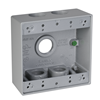 "DB575S - 2G WP Gray Box - Five 3/4"" Holes - 30 Cu In - Hubbell--Raco"