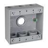 "DB775S - 2G WP Gray Box - Seven 3/4"" Holes - 30 Cu In - Hubbell--Raco"