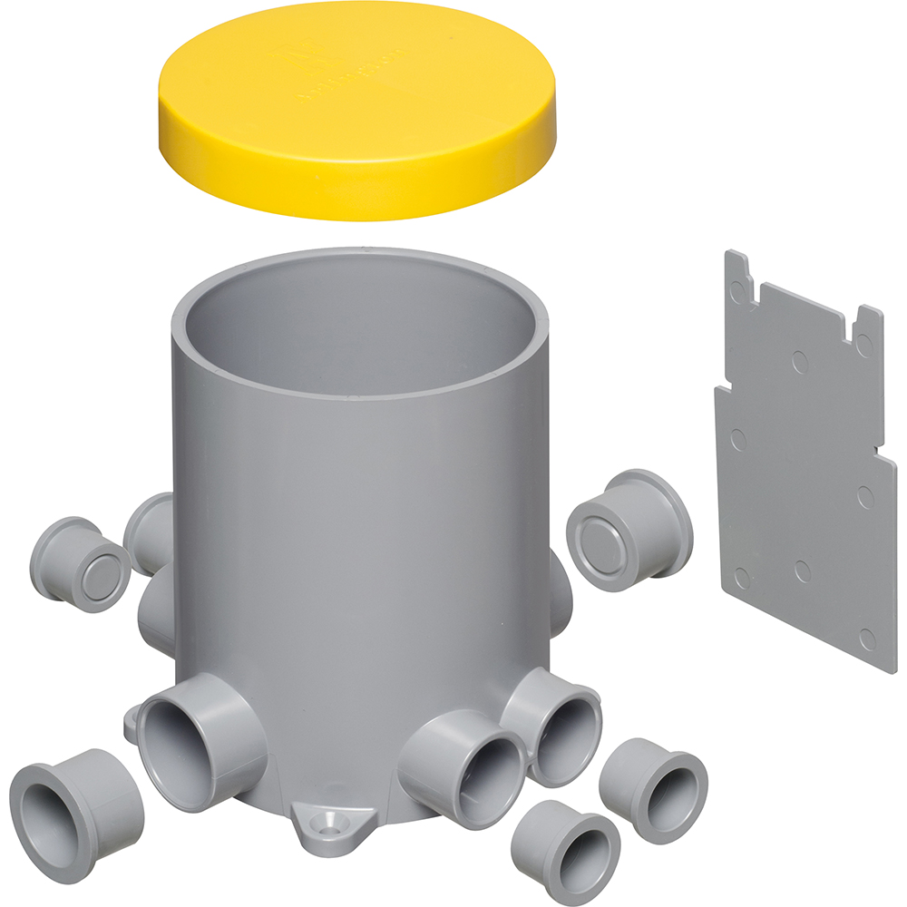 Carlon Receptacle Drop In Floor Box Kit With Hole Saw