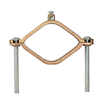"G4S - 2-1/2"" - 4"" Bronze Ground Clamp, # 2 - Nsi Industries"